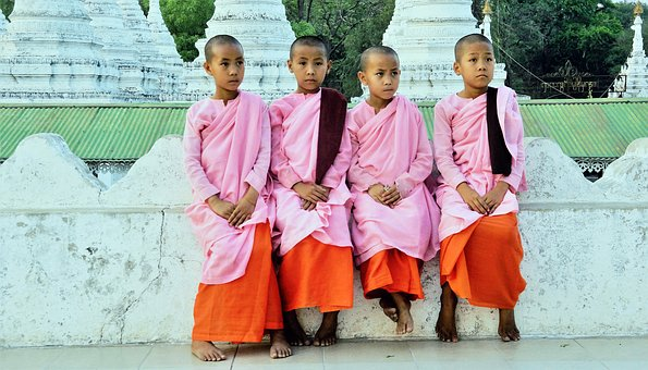 Monk, Female, Girl, Religious, Buddhist, Buddhism