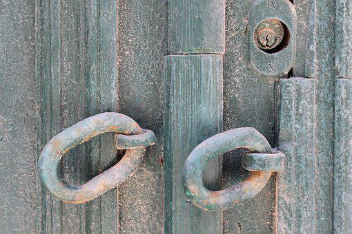 Hooks, Distressed, Chains, Keyhole, Grey, Texture