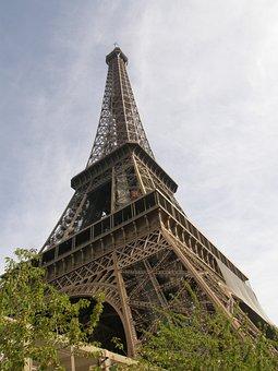Eiffel, Tower, Paris, France, Europe, Architecture