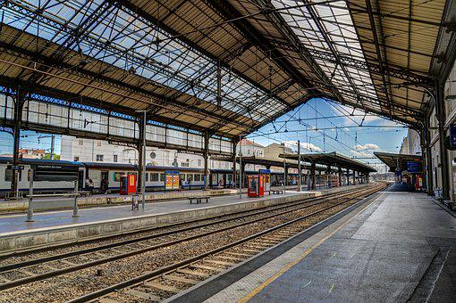 Valence, Train, Station, France, Europe, City