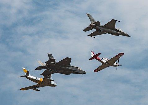 F86, F16, Mustang, F35, Sabre, Air Show, Canada