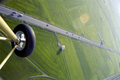 Fly, Flight, Ultralight, Drone, Landscape, Zenith