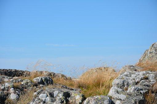 Background, Grass, Wind, Cliffs, Stone, Himmel, Cliff