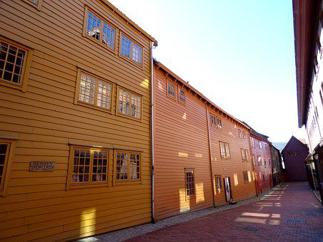 Street, House, Wooden, Wood, Building, Color, Colorful