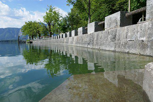 Lake, Reflection, Wall, Water, Surface, Nature