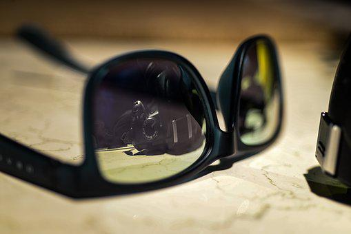 Mirror, Sunglasses, Reflection, Camera, Photography
