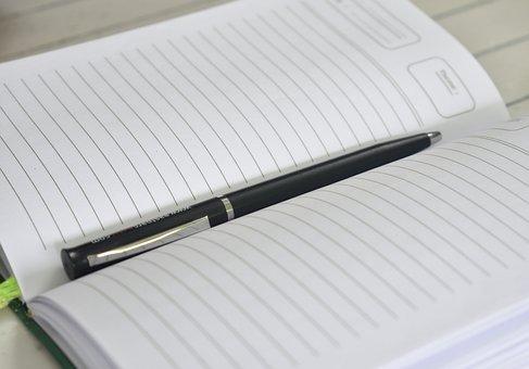 Book, Pen, Notebook, Business, Desk, Education, School