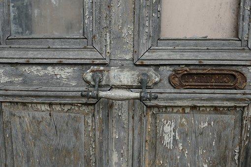 Door, Front Door, Handle, Letter, Mailbox, Wood, Paint