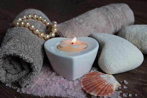 Spa, Candles, Relax, Pearls