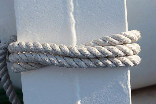 Rope, White, Clean, Fresh, Cord, Strong, Nautical