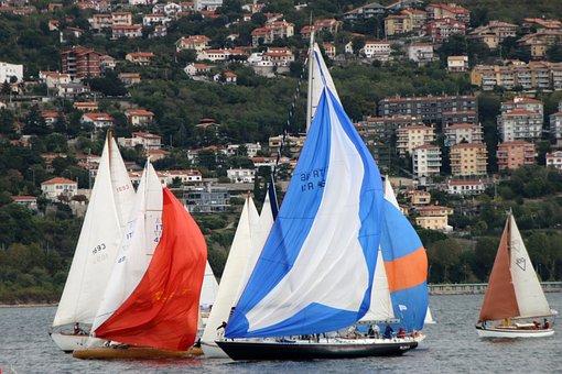 Sailboats, Sea, Boats
