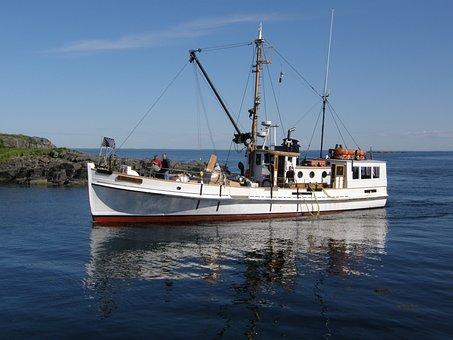 Mohegan, Island, Maine, Shore, Water, Coast, Ocean