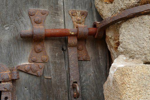 Lock, Close, Slide, Metal, Rust, Old, Antique, History