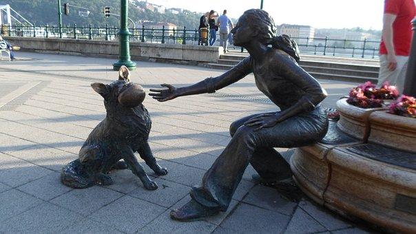 Budapest, Statue, Hungary, Bronze Statue, The Danube