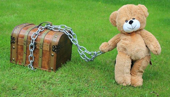 Chest, Trunk, Treasure, Safe, Secret, Chain, Locked