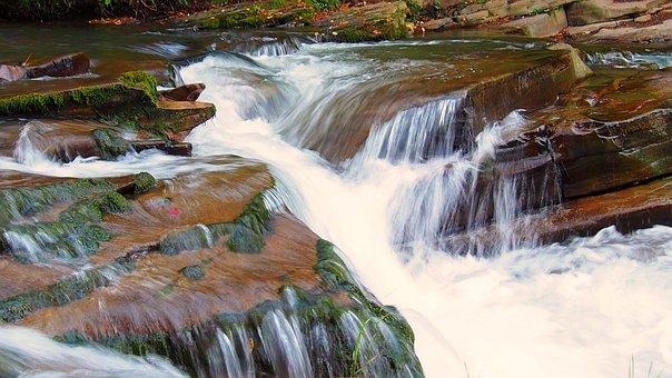 Waterfall, Water, Nature, Cascade, Stream, River