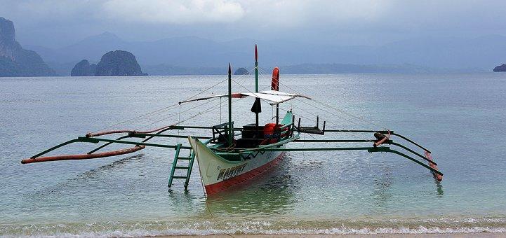 Boat, Philippines, El Nido, Fishing, Sea, Water