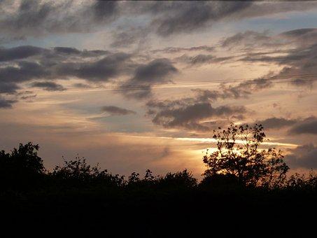 Sunset, Clouds, Sky, Nature, Landscape, Light, Outdoor