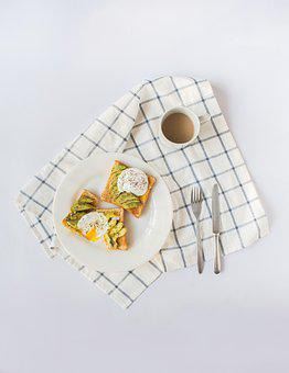 Food, Dish, Breakfast, Coffee, Toast, Snack, Fresh