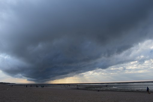 Cloud, Dramatic, Dark, Sky, Cloudscape, Seashore