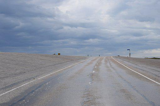 Road, Asphalt, Empty, Horizon, Sky, Perspective