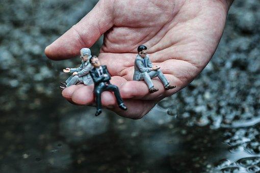 Figure, Miniature, Man, Hand, Macro