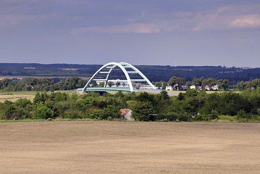 The Viaduct, Highway, Bridge, Way, Green, Landscape