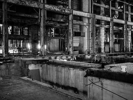 Industrial, Warehouse, Abandoned Building, Interior
