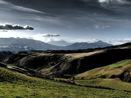 Landscape, Mountains, Andy, Ecuador, Space, Clouds