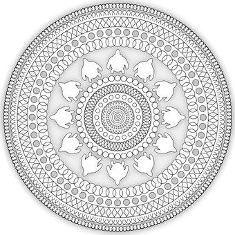 Mandala, Pattern, Ethnic