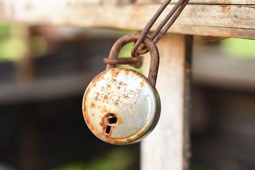 Old, Metal, Lock