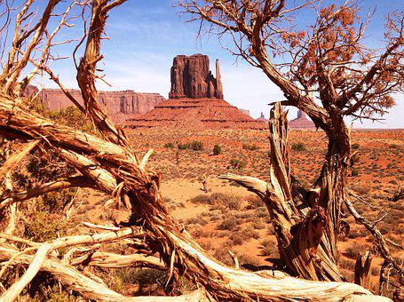 Arizona, Monument Valley, Navajo, Reddish, Usa, Desert