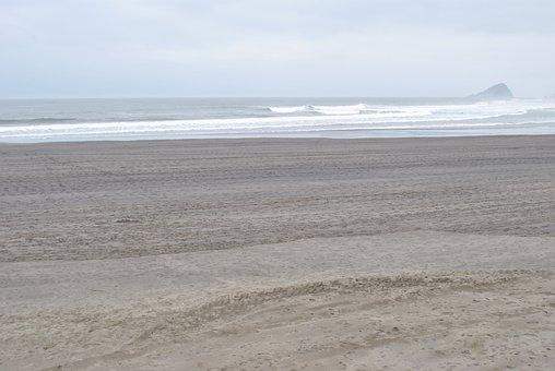 Beach, Sand, Sea, Rock, Landscape