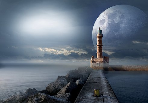 Signal, Lighthouse, Quay Wall, Science, Astronomy