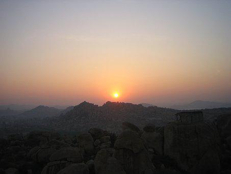 Sunset, Mountains, Landscape, Nature, Evening