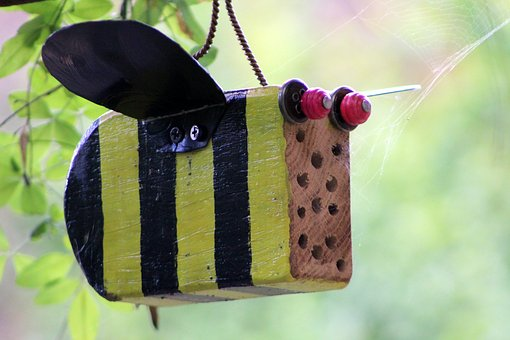 Bee, Insect Hotel, Wood, Gift
