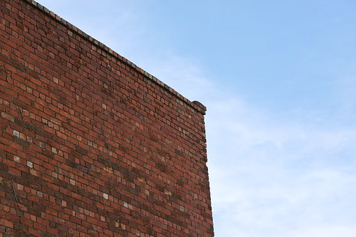 Brick, Building, Wall, Sky, Blue, Red, Structure