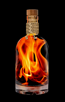 Flame, Embers, Bottle Fiery, Fire, Hot, Burn, Campfire