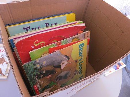 Books, Box, Moving, Cardboard