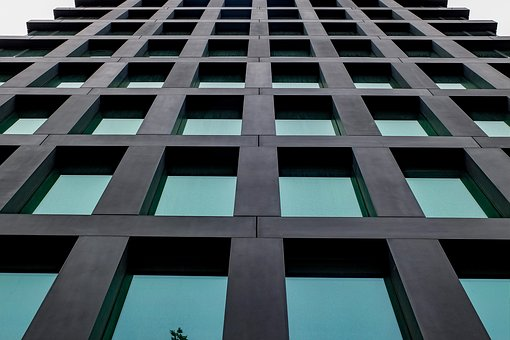 Building, Facade, Glass, Green, Modern, Construction