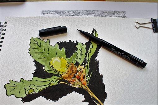 Sketchbook, Art, Artist, Sketch, Draw, Ink, Pen