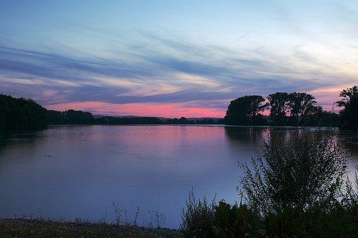 Blue Hour, Lake, Twilight, Romantic, Mood, Atmosphere
