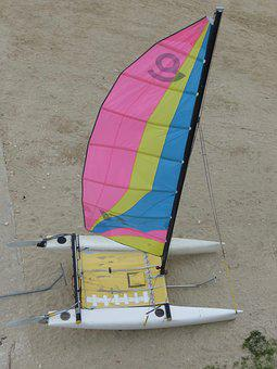 Catamaran, Sailing, Boat, Sea, Mats, Mast, Sailboat