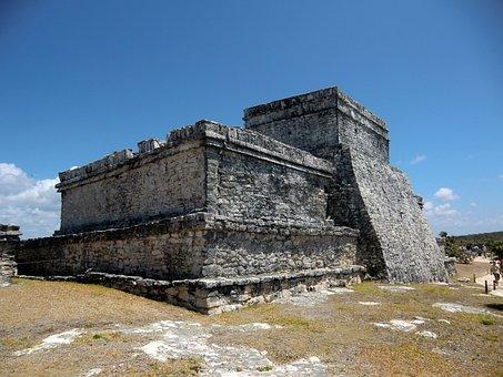 Mayan, Tulum, Mexico, Yucatan, Temple, Archeology