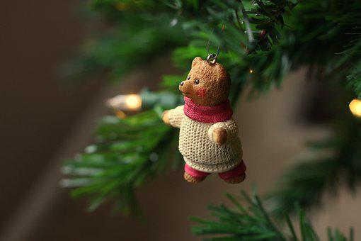 Bear, Christmas, Ornament, Holiday, Sweater, Cute