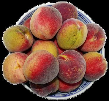 Peach, Stone Fruit, Fruit Bowl, Round Peach
