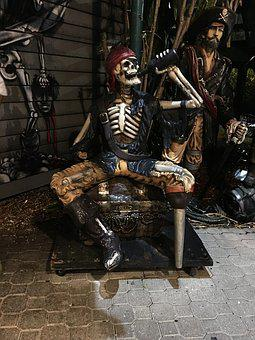 Pirate, Beer, Skeleton, Peg Leg, Alcohol, Drink, Old