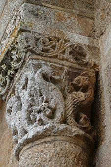 Column, Stone, Sculpture, Dragon, Decoration