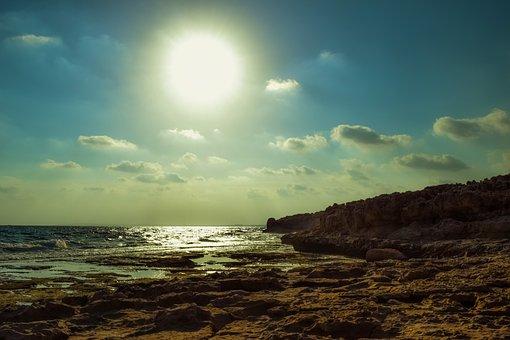 Sea, Sky, Clouds, Sun, Nature, Landscape, Sunlight