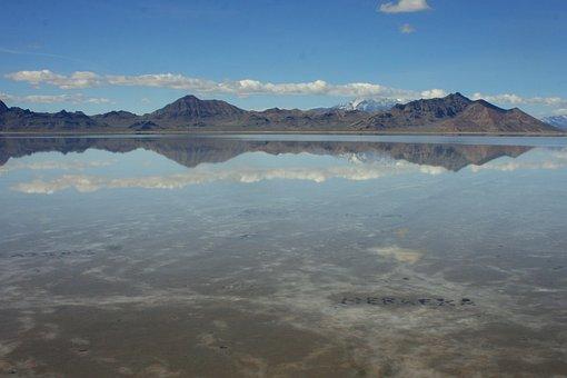 Bonneville Salt Flats, Utah, Bonneville, Salt, America